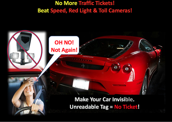 Hate Traffic Tickets Make Your Car Invisible Avoid